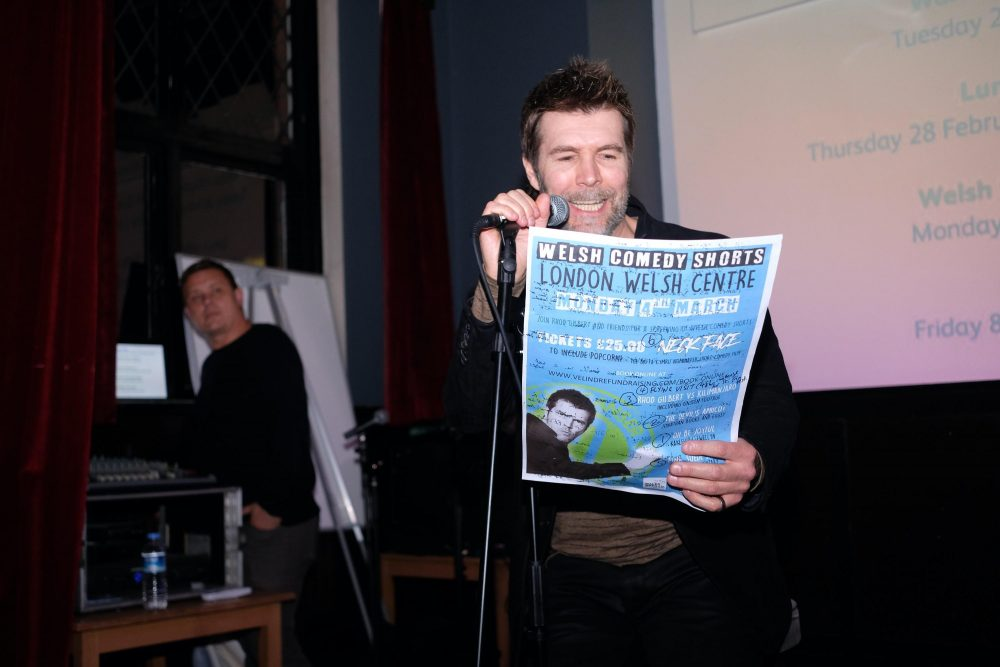 Rhod Gilbert at the Velindre fundraiser